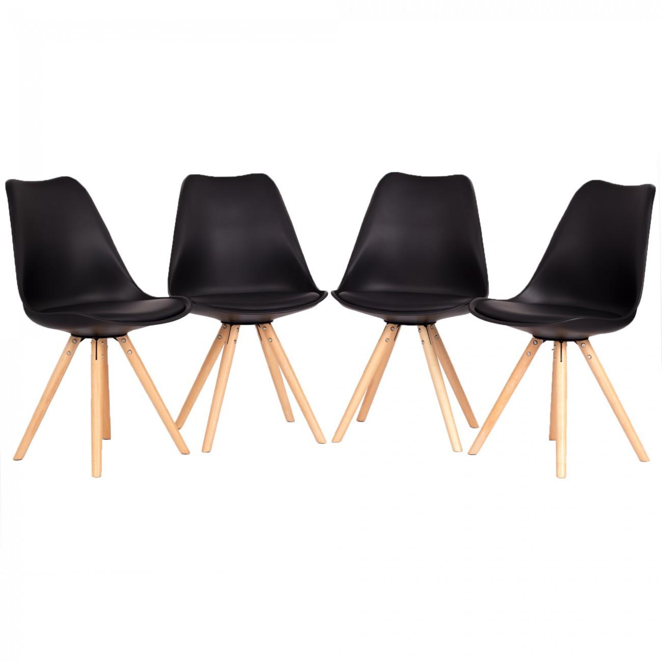 my sit retro stuhl design stuhl mool 4er set in schwarz. Black Bedroom Furniture Sets. Home Design Ideas