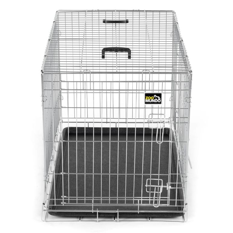zoomundo Foldable stainless Animal Cage - in Silver Size L  – Bild 2