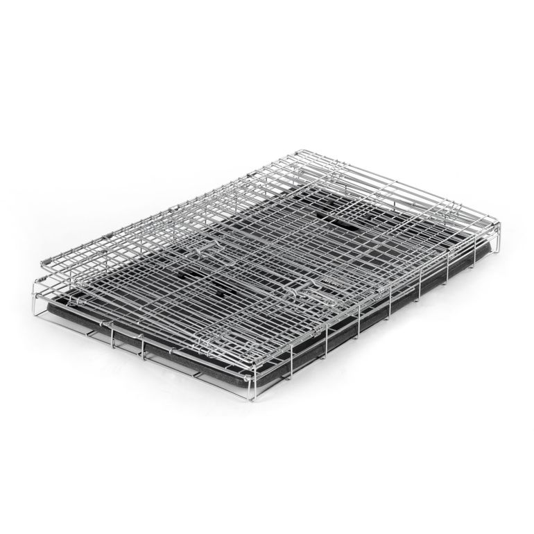 zoomundo Foldable stainless Animal Cage - in Silver Size L  – Bild 4