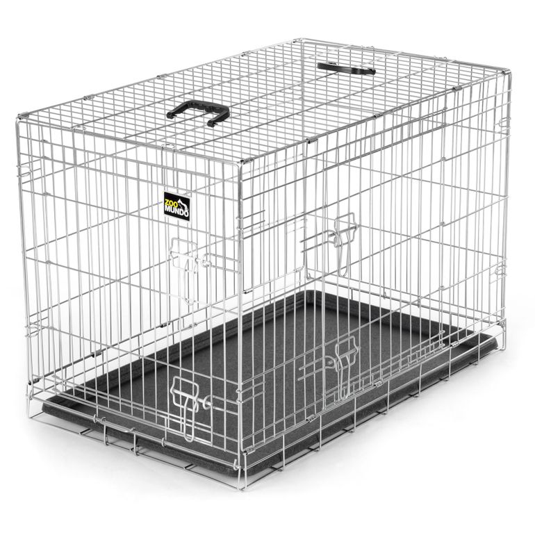 zoomundo Foldable stainless Animal Cage - in Silver Size L  – Bild 1