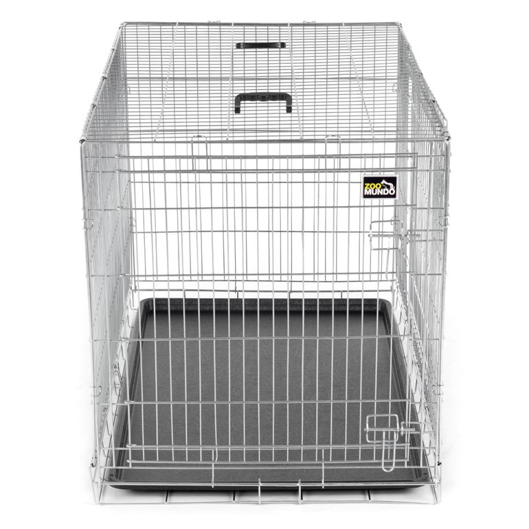 zoomundo Foldable stainless Animal Cage - in Silver Size XL – Bild 2