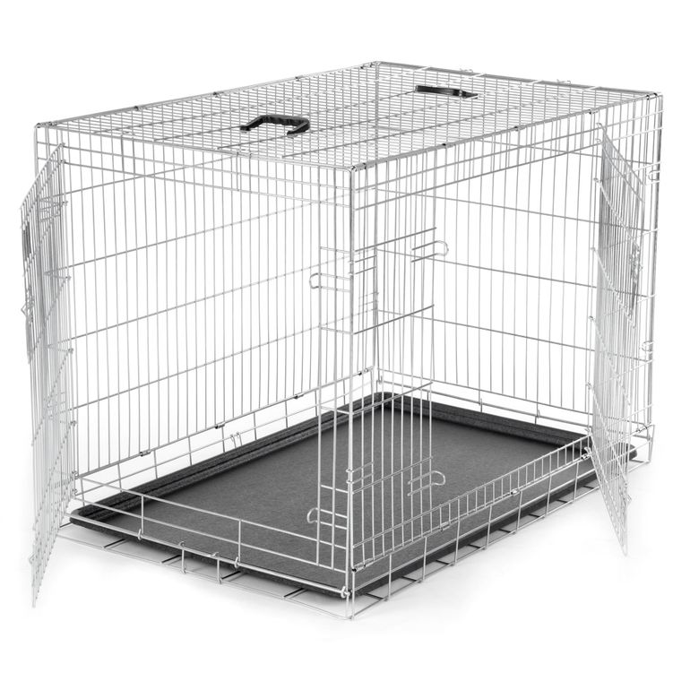 zoomundo Foldable stainless Animal Cage - in Silver Size XL – Bild 3