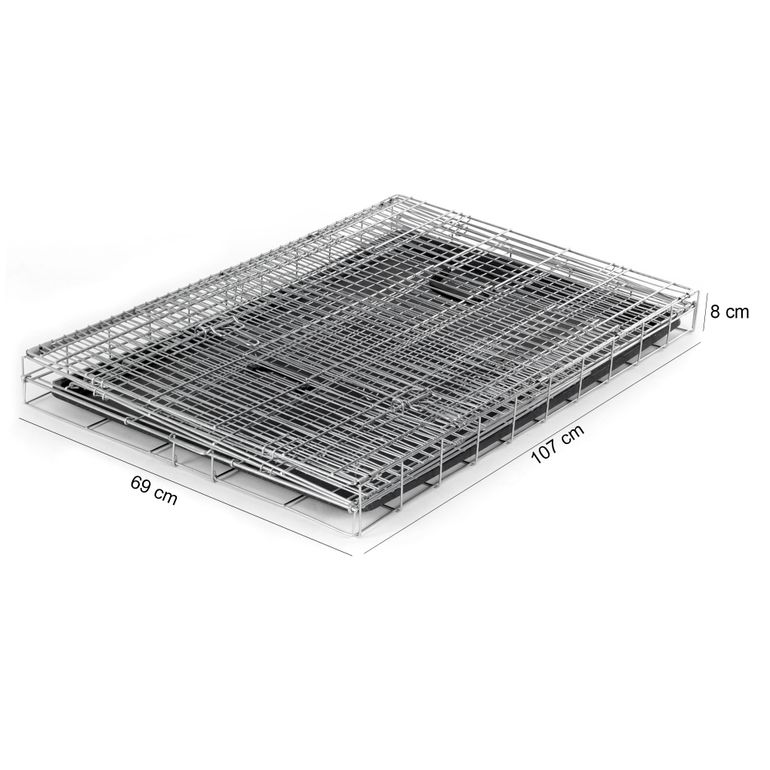 zoomundo Foldable stainless Animal Cage - in Silver Size XL – Bild 6
