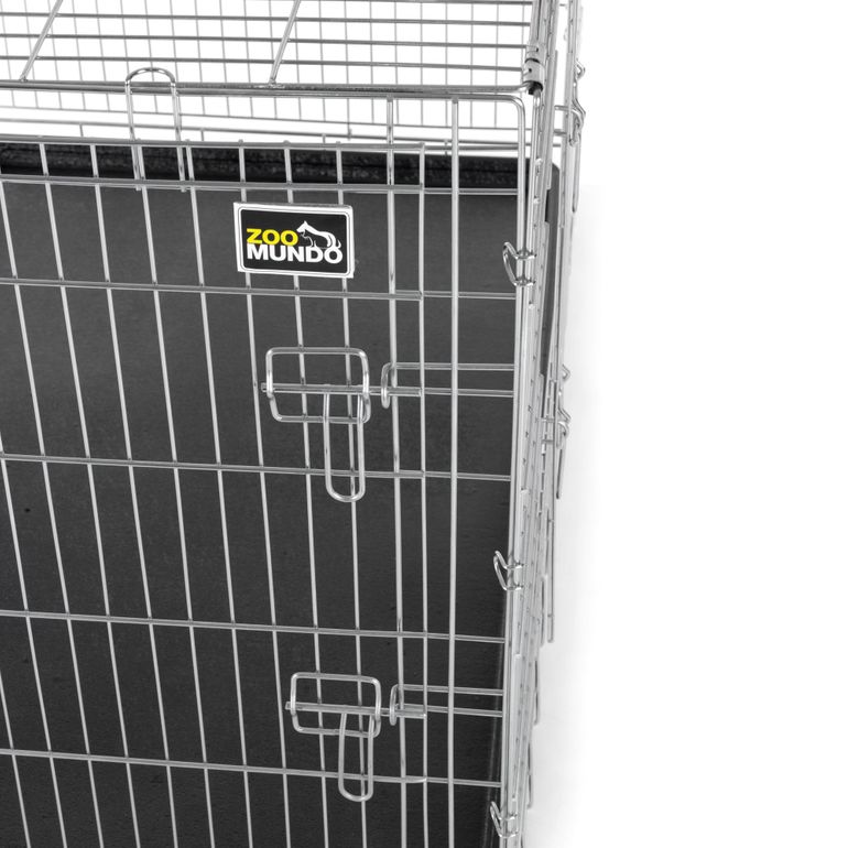 zoomundo Foldable stainless Animal Cage - in Silver Size XL – Bild 7