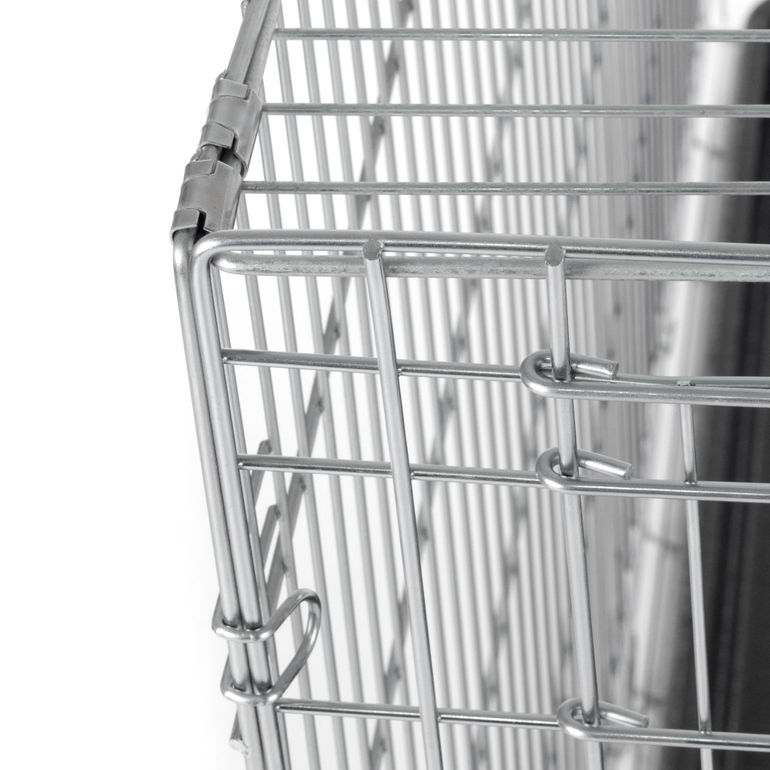 zoomundo Foldable stainless Animal Cage - in Silver Size XL – Bild 9