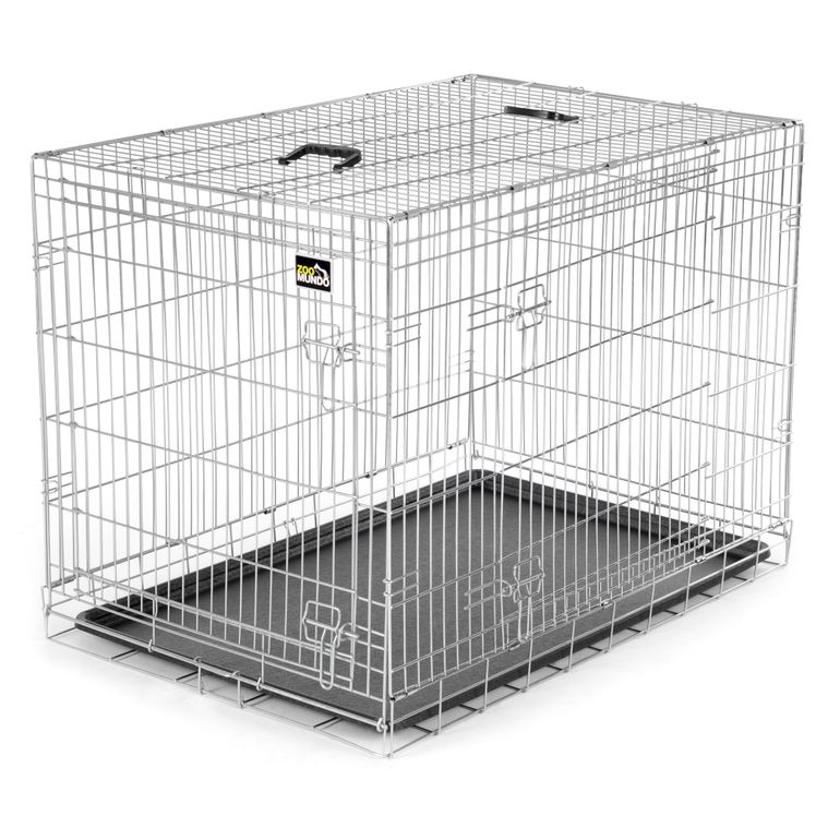 zoomundo Foldable stainless Animal Cage - in Silver Size XL – Bild 1