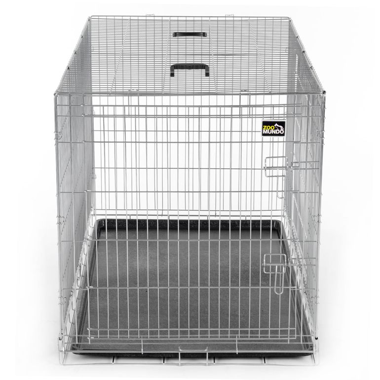 zoomundo Foldable stainless Animal Cage - in Silver Size XXL – Bild 2