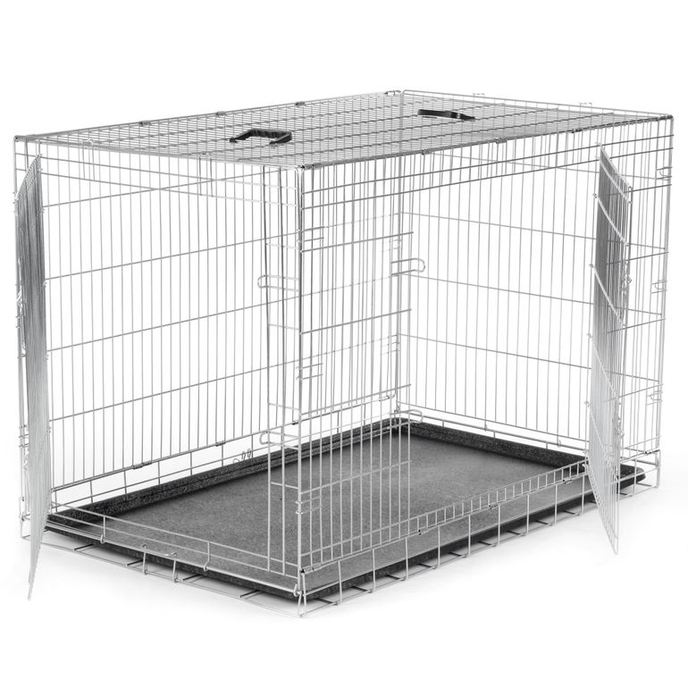 zoomundo Foldable stainless Animal Cage - in Silver Size XXL – Bild 3