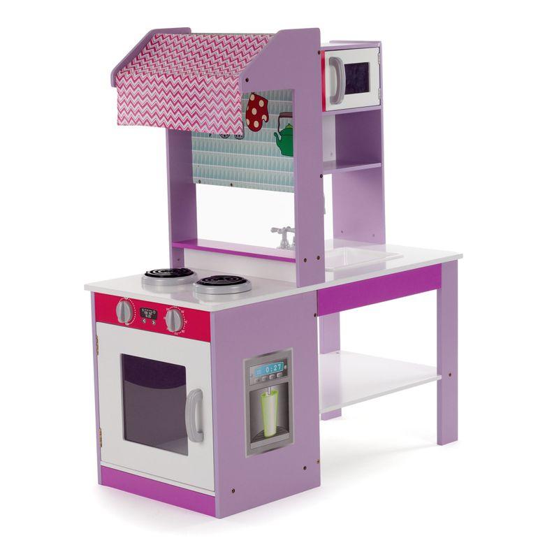Baby Vivo Kinderküche Spielküche aus Holz - Emma in Lila – Bild 1