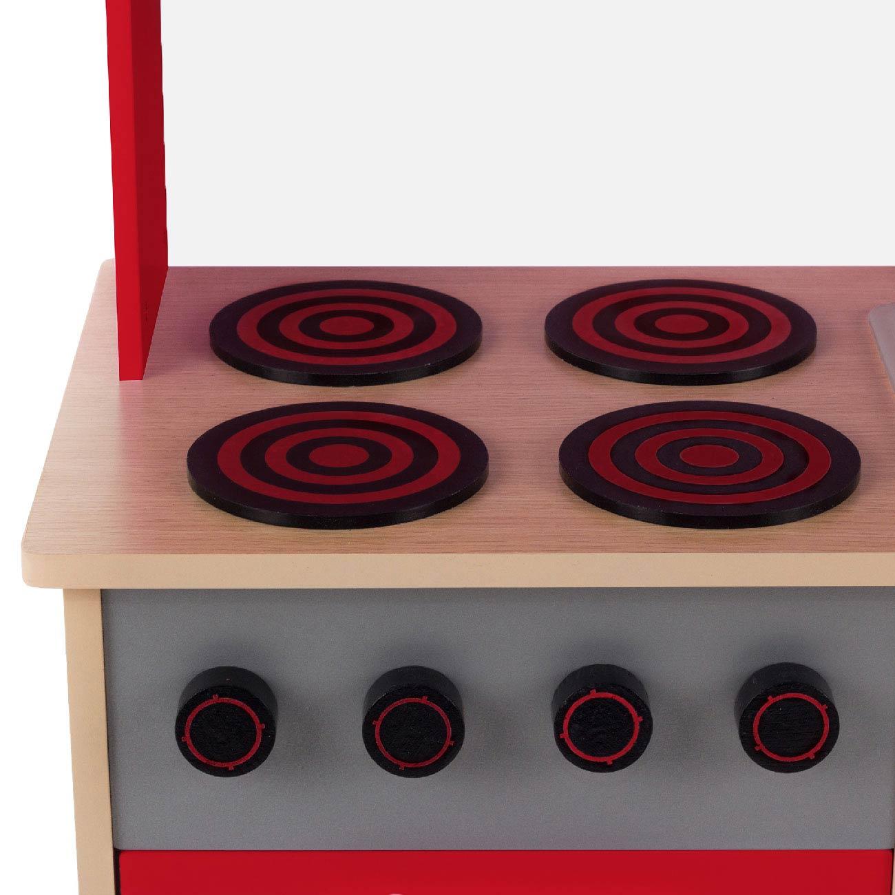 Baby vivo cuisine enfant en bois avec tableau noir mila en rouge b b enfant jouets cuisine - Cuisine mila ...