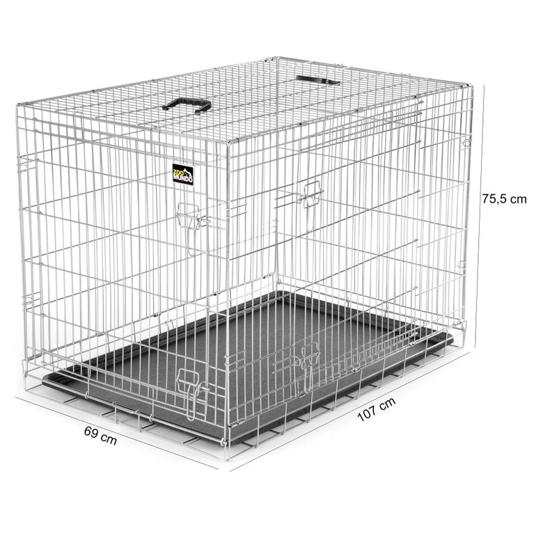 zoomundo Foldable stainless Animal Cage - Sizes L - XXL in Silver – Bild 12