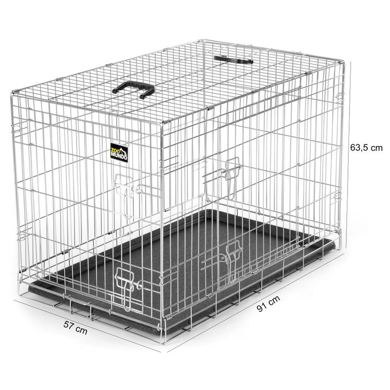 zoomundo Foldable stainless Animal Cage - Sizes L - XXL in Silver – Bild 18