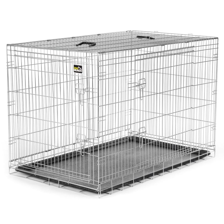 zoomundo Foldable stainless Animal Cage - Sizes L - XXL in Silver – Bild 2
