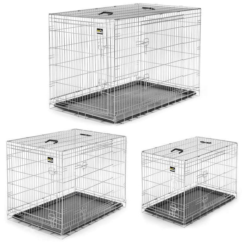 zoomundo Foldable stainless Animal Cage - Sizes L - XXL in Silver – Bild 1
