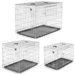 zoomundo Faltbarer Tierkäfig / Transportbox - Silber Größen L - XXL