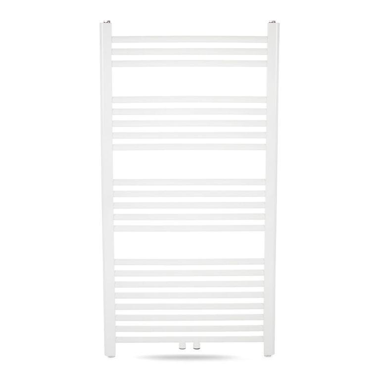 GAJO Porte-Serviettes Droit 1150 x 600 mm Radiateur de bains Acier Inoxydable en Blanc – Bild 2