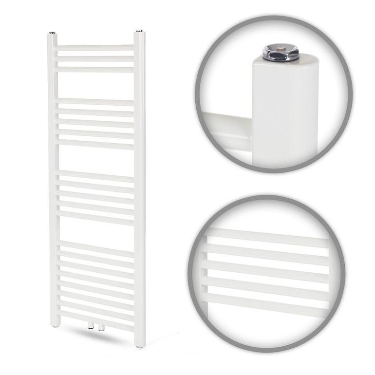 GAJO Porte-Serviettes Droit 1150 x 450 mm Radiateur de bains Acier Inoxydable en Blanc – Bild 1
