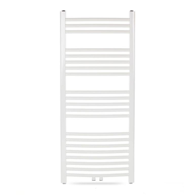 GAJO Porte-Serviettes Courbe 1150 x 500 mm Radiateur de Bains Acier Inoxydable en Blanc – Bild 2
