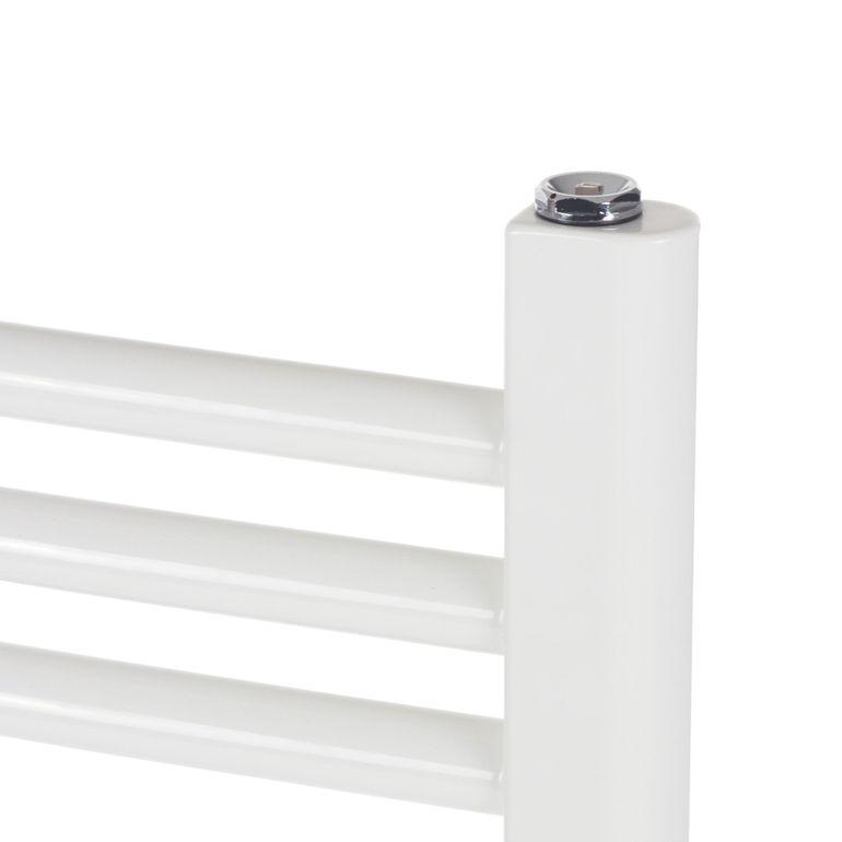 GAJO Porte-Serviettes Courbe 1150 x 500 mm Radiateur de Bains Acier Inoxydable en Blanc – Bild 5