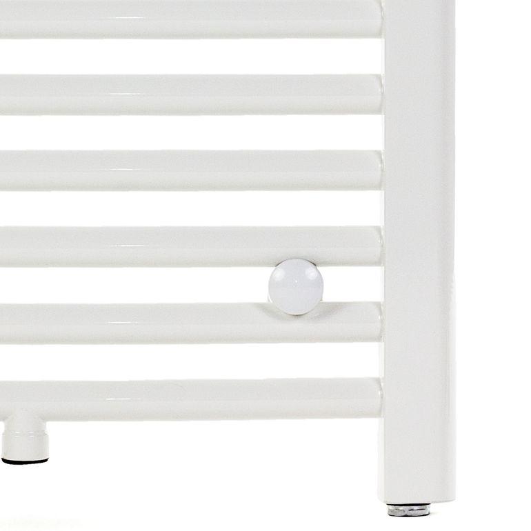 GAJO Porte-Serviettes Courbe 1150 x 600 mm Radiateur de Bains Acier Inoxydable en Blanc – Bild 6