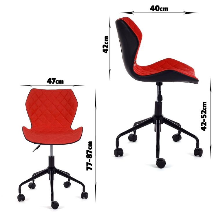 MY SIT Office Chair adjustable Stool INO Red/Black – Bild 7