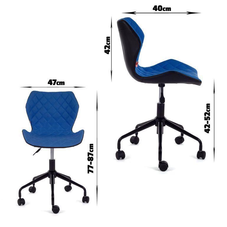 MY SIT Office Chair adjustable Stool INO Blue/Black – Bild 7