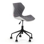 MY SIT Bürostuhl Design-Hocker Drehstuhl Stuhl INO Grau/Weiss 001