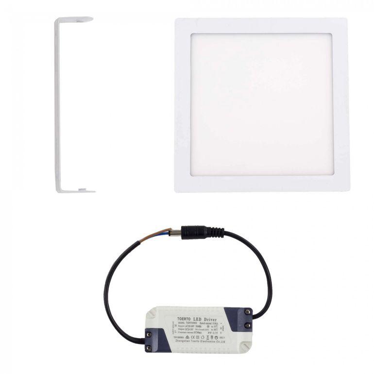 MAXCRAFT Panneau LED Spot Lampe 24W 300 x 300 mm - Blanc chaud – Bild 2