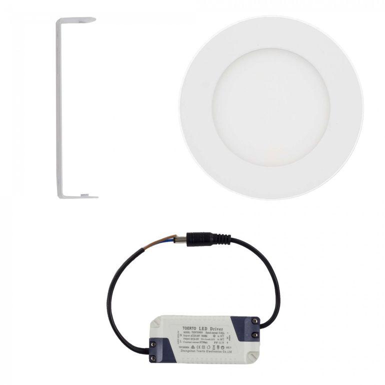 MAXCRAFT LED Panel Strahler Lampe Rund 6W Ø 120 mm - Warmweiß – Bild 2