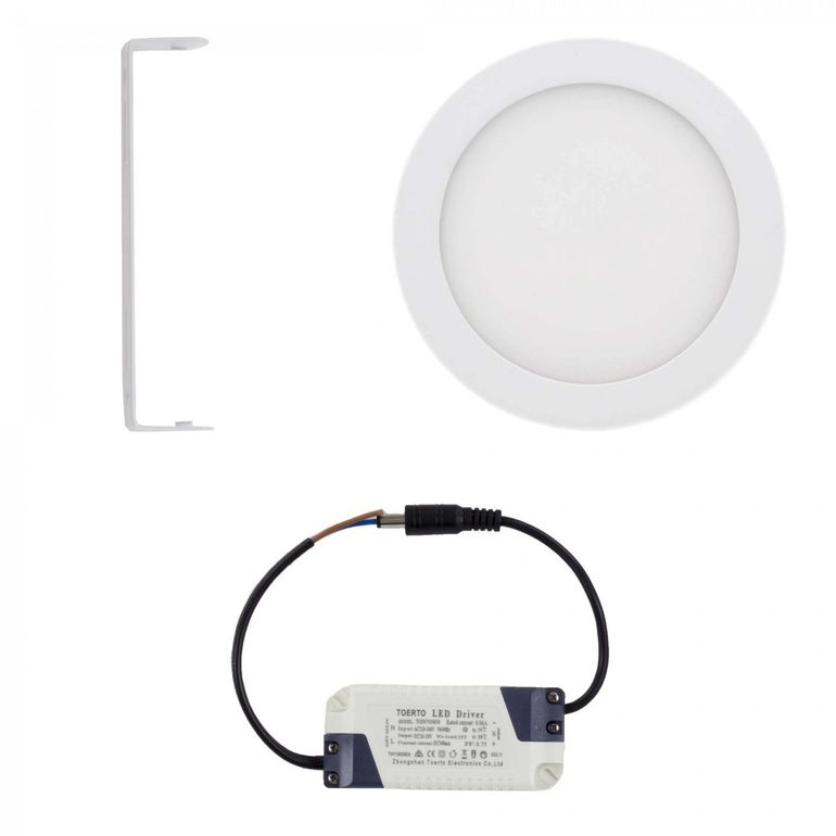 MAXCRAFT Pannello LED Faretti Tondo 12W Ø 170 mm - Bianco freddo – Bild 2