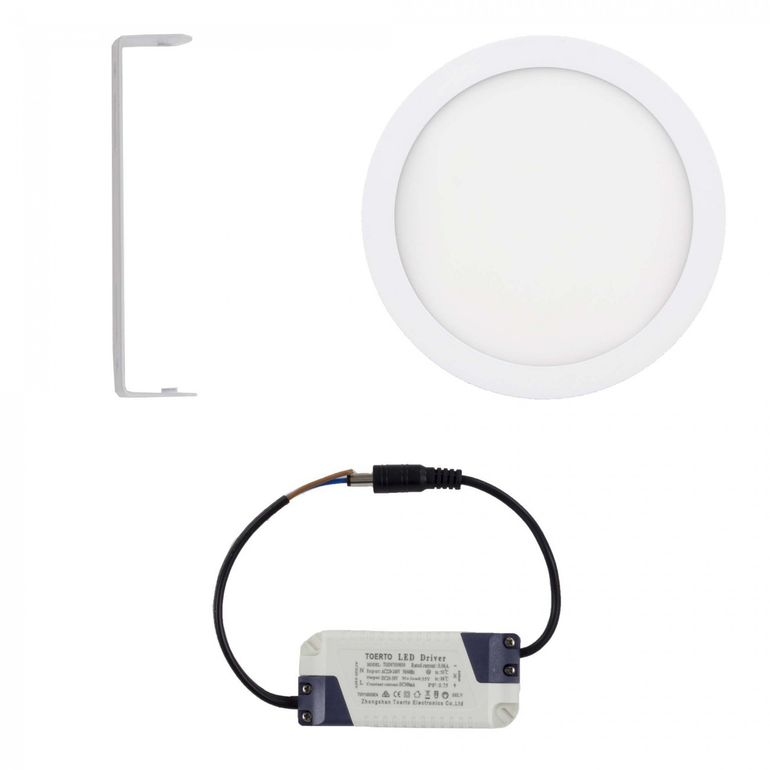 MAXCRAFT LED Panel Light Spotlight Round 18W Ø ca. 220 mm - Cool white – Bild 2