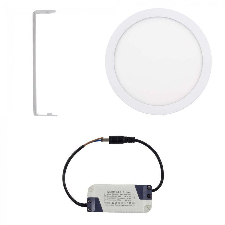 MAXCRAFT LED Panel Strahler Lampe Rund 24W Ø 300 mm - Warmweiß – Bild 2