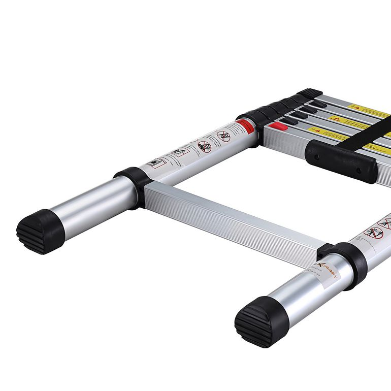 MAXCRAFT 2,00 m Telescopic Aluminium Soft Close Ladder – Bild 9