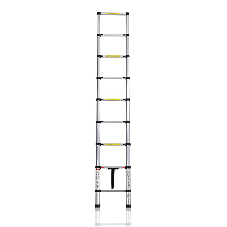 MAXCRAFT 2,60 m Telescopic Aluminium Soft Close Ladder – Bild 4