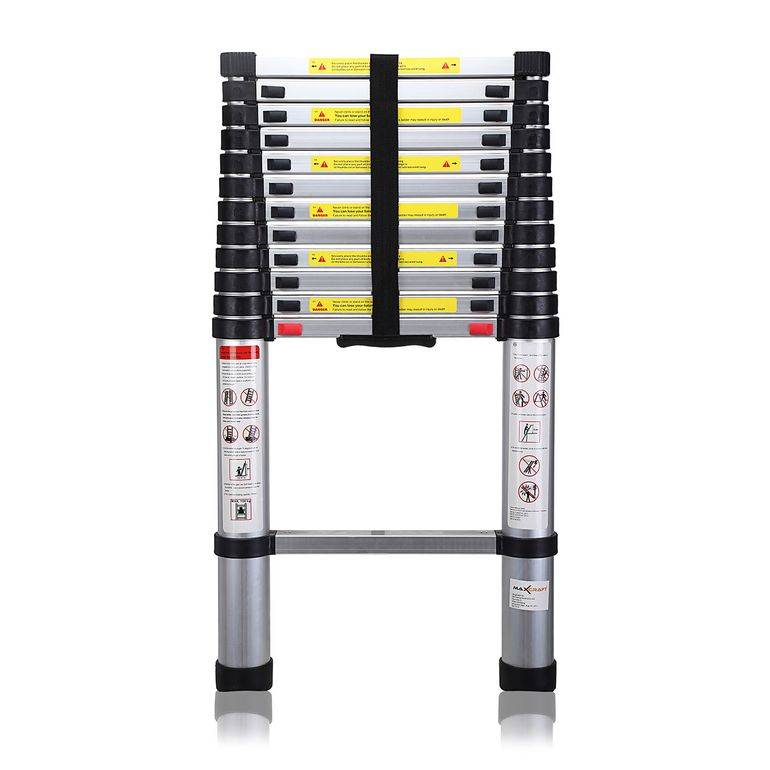 MAXCRAFT 3,80 m Telescopic Aluminium Soft Close Ladder – Bild 3