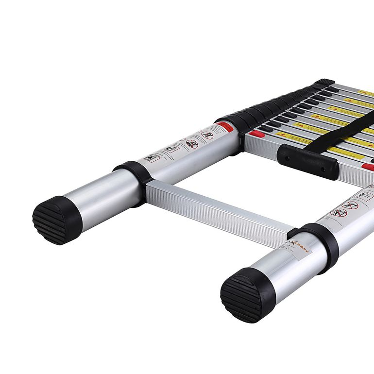 MAXCRAFT 3,80 m Telescopic Aluminium Soft Close Ladder – Bild 10