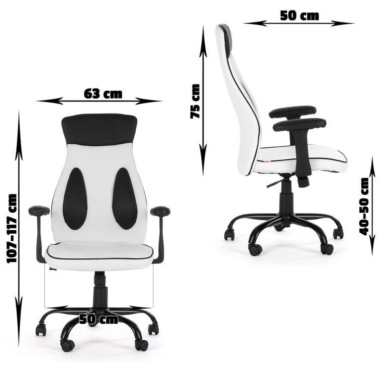 MY SIT Bürostuhl Chefsessel Samoa aus Kunstleder in Weiß – Bild 10