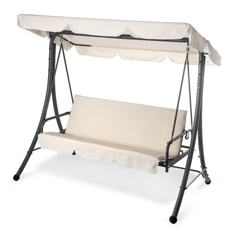 Strattore Balancelle Balançoire Hollywood avec fonction chaise longue 190 x 120 x 165 cm – Bild 16