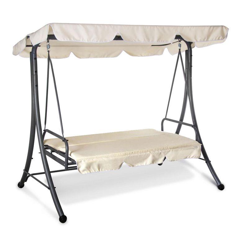 Strattore Balancelle Balançoire Hollywood avec fonction chaise longue 190 x 120 x 165 cm – Bild 20