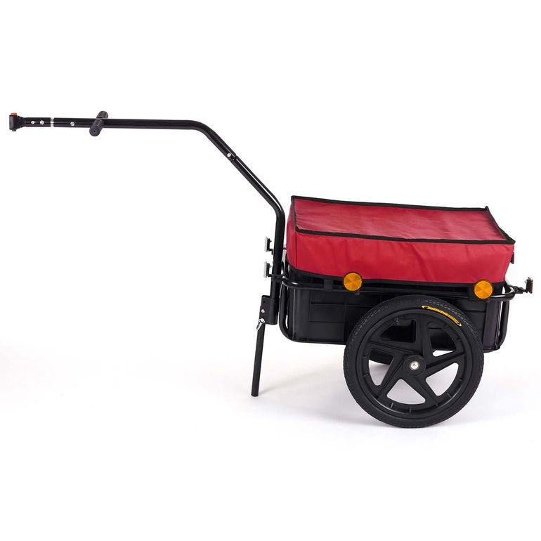 SAMAX Lastenanhänger / Fahrradanhänger für 60 Kg / 70 Liter in Rot – Bild 2