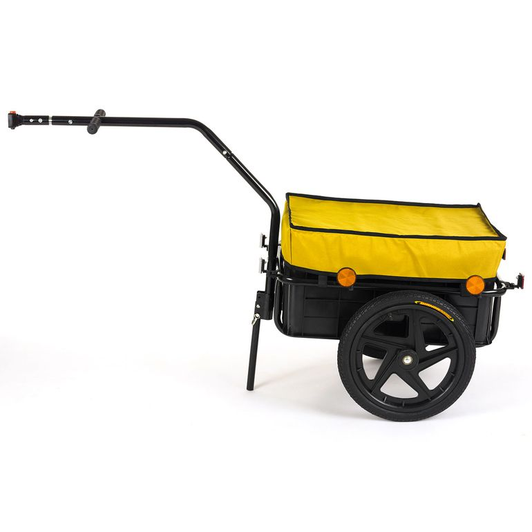 SAMAX Bicycle Bike Trailer for Transport 60 Kg / 70 Litre in Yellow