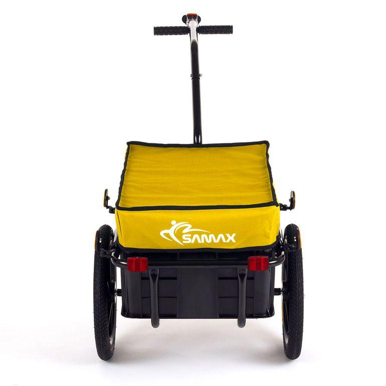SAMAX Remorque de Vélo / Chariot de Transport pour 60 Kg / 70 L en Jaune – Bild 4