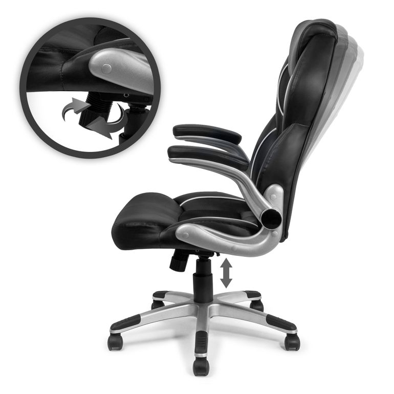 MY SIT Office Chair Montreal Faux Leather in Black – Bild 3