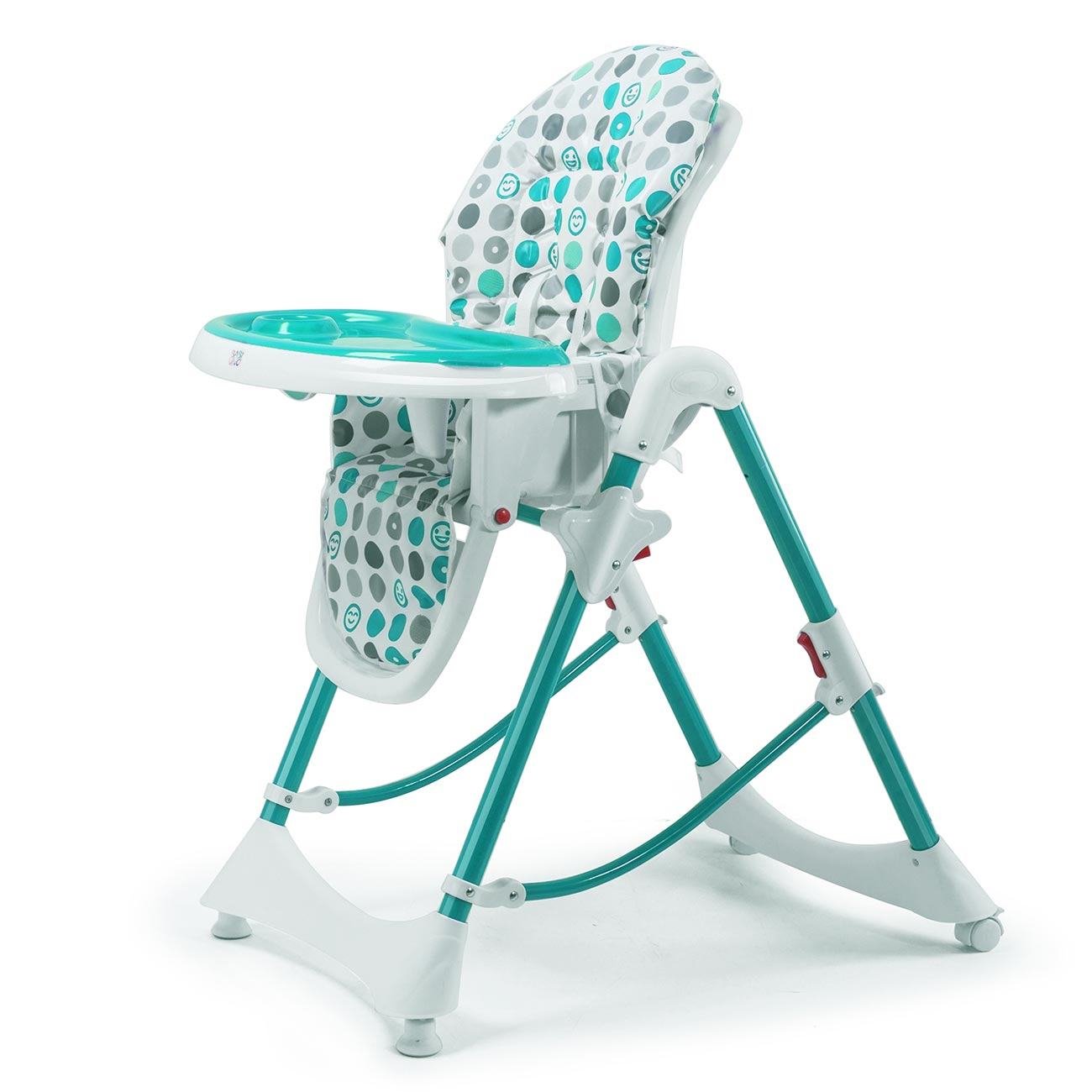 baby vivo chaise haute pour b b enfant en plastique tippy en turquoise b b enfant. Black Bedroom Furniture Sets. Home Design Ideas