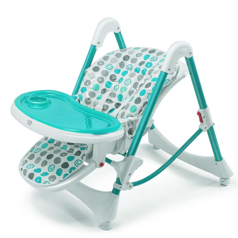 Baby Vivo Baby High Chair Infant Feeding Seat - Tippy in Turquoise – Bild 7