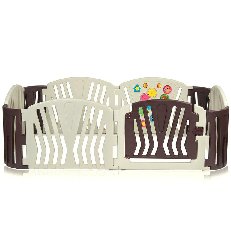 Baby Vivo Foldable Baby Child Playpen for Indoor and Outdoor - Brown – Bild 3