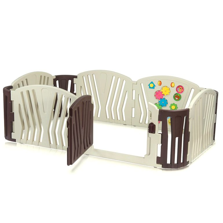 Baby Vivo Recinto in Plastica 10 Elementi - Brown – Bild 1