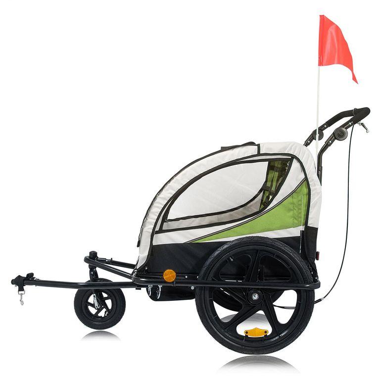 SAMAX 360° rotatif Remorque Vélo convertible Jogger 2en1 Enfant - en Vert - Black Frame – Bild 3