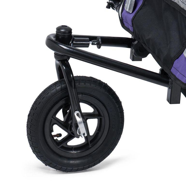 SAMAX 360° girevole Rimorchio per Bicicletta Passeggino Bambini - in Viola - Black Frame – Bild 8