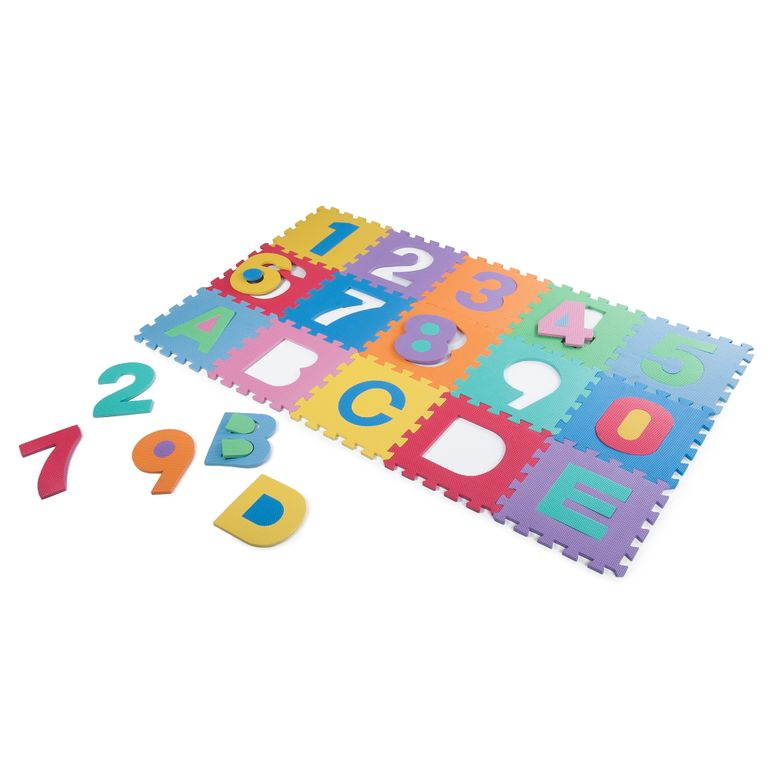Baby Vivo Large 86 Pieces Puzzle Soft EVA Foam Play Mat with Numbers and Alphabet 190 x 190 cm – Bild 3